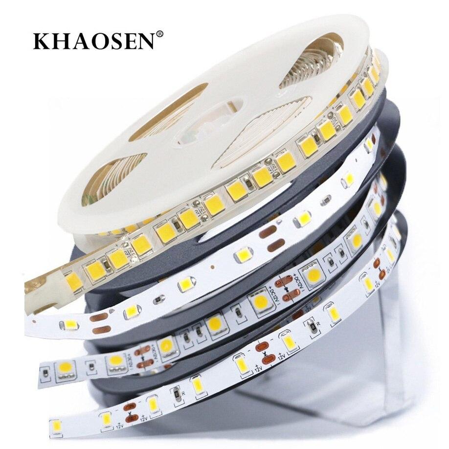No-waterproof Led Strip Light Smd 5630 5050 2835 60leds/m Or 5054 120leds/m 5m Flexible Tape Light Dc12v Garland Ribbon Tape 100% Original Led Lighting Led Strips