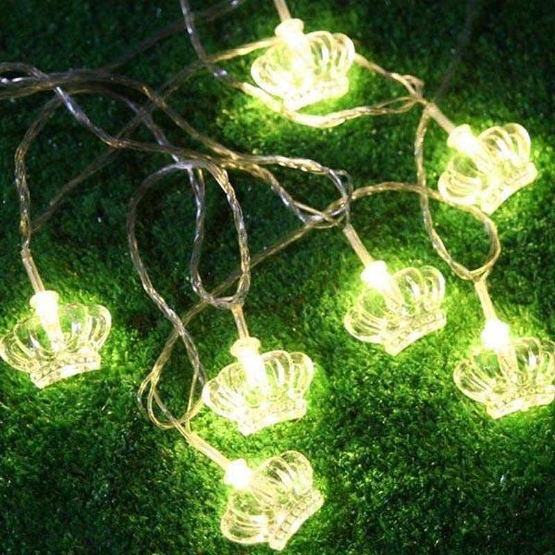 10 M 38LED corona Hada cadena luz boda fiesta de Navidad decoración al aire libre 110 V/220 V UE/EE. UU. /UK/AU enchufe iluminación de paisaje de boda