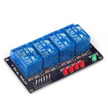 10PCS 4 Channel 5V Relay Module lamp Low level for Arduino SCM Household Appliance Control
