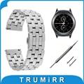 Correa de reloj 20mm banda de acero inoxidable de liberación rápida para samsung gear s2 classic (SM-R7320) moto 360 2 gen 42mm piedra ocasión