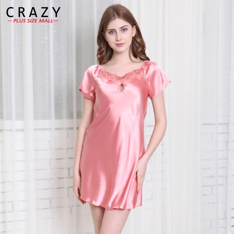 2018 Summer Women Nightgowns Sleepshirts Plus Size home Bathrobe female Sleepwear Dress Gown Intimissimi
