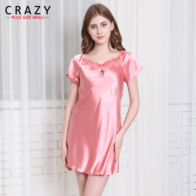 2018 Summer Women   Nightgowns     Sleepshirts   Plus Size home Bathrobe female Sleepwear Dress Gown Intimissimi