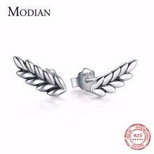 Modian 100% реальные 925 стерлингового серебра в форме листа