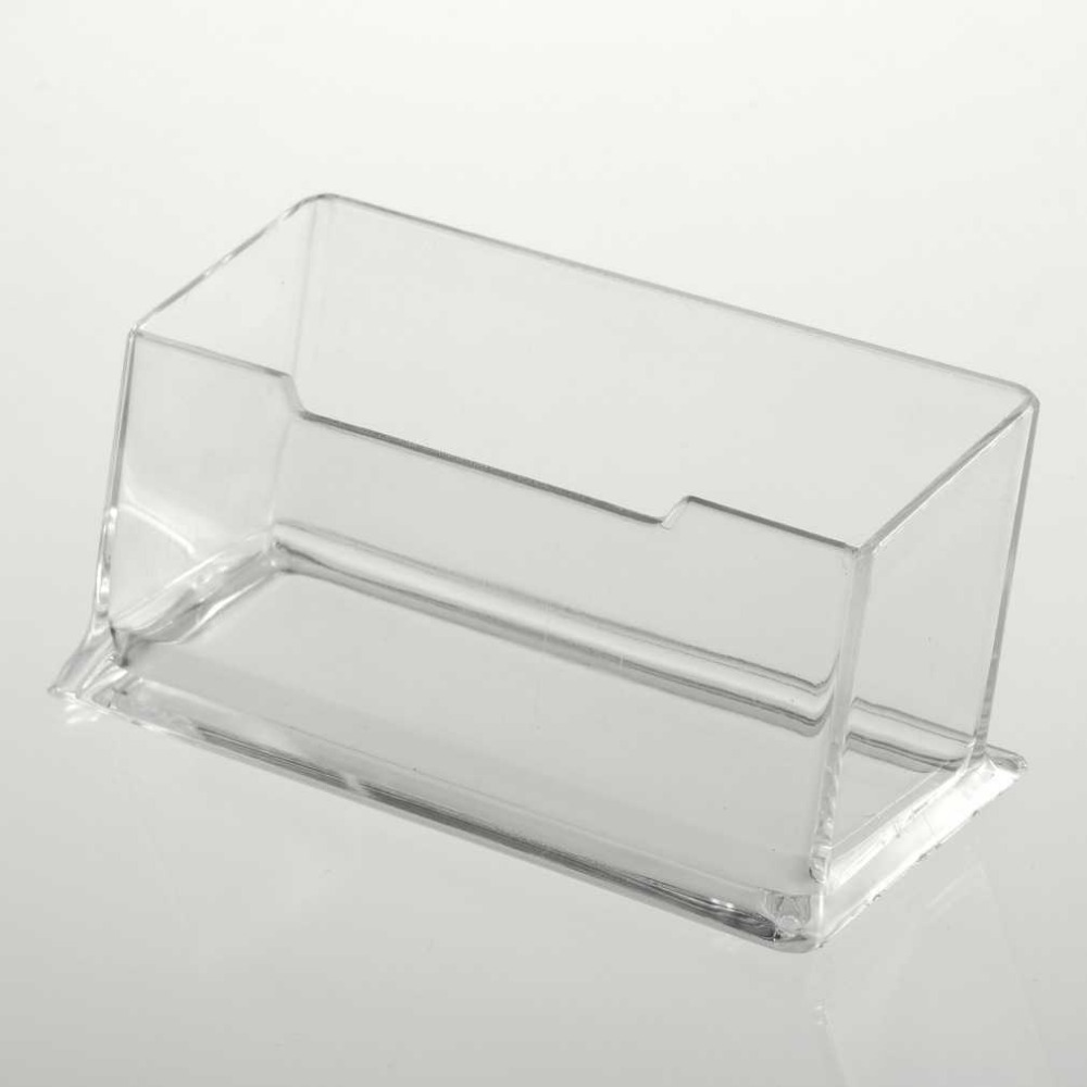 Acrylic business card holder unlimitedgamers 1pc clear acrylic business card holder display stand desk desktop reheart Image collections