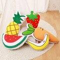 Venda quente planta de fruto de pelúcia jogar travesseiro almofada morango melancia de banana brinquedo de pelúcia crianças boneca de pelúcia sofá decoração da casa