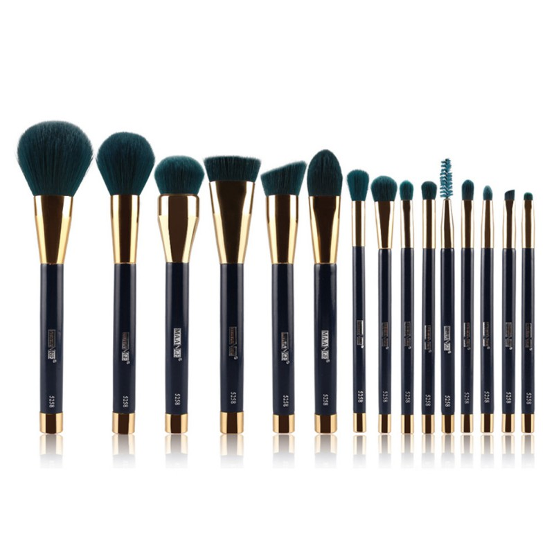 Foundation Blending Brush Kabuki Makeup Brushes Set Women' Make-up Brushes Set Synthetic Hair Shipped from US 15 pcs