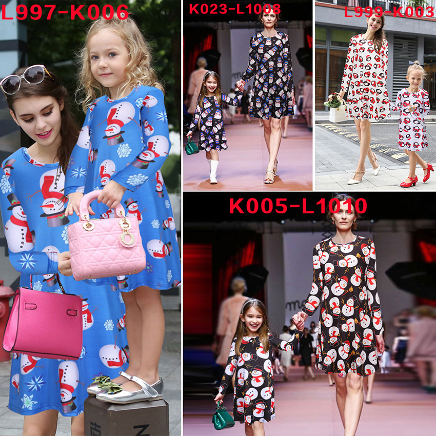 family matching mother daughter dresses christmas mommy and me outfits clothes cotton long sleeve matching family