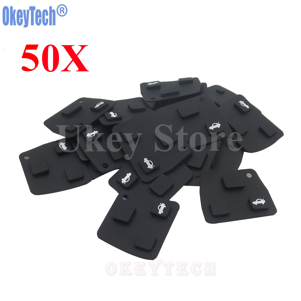 OkeyTech 50PCS/LOT Car <font><b>Remote</b></font> <font><b>Key</b></font> Silicone Rubber <font><b>Key</b></font> Pad 3 <font><b>Button</b></font> For <font><b>Toyota</b></font> <font><b>Avensis</b></font> Corolla Lexus RVA4 Replacement <font><b>Button</b></font> Pad image