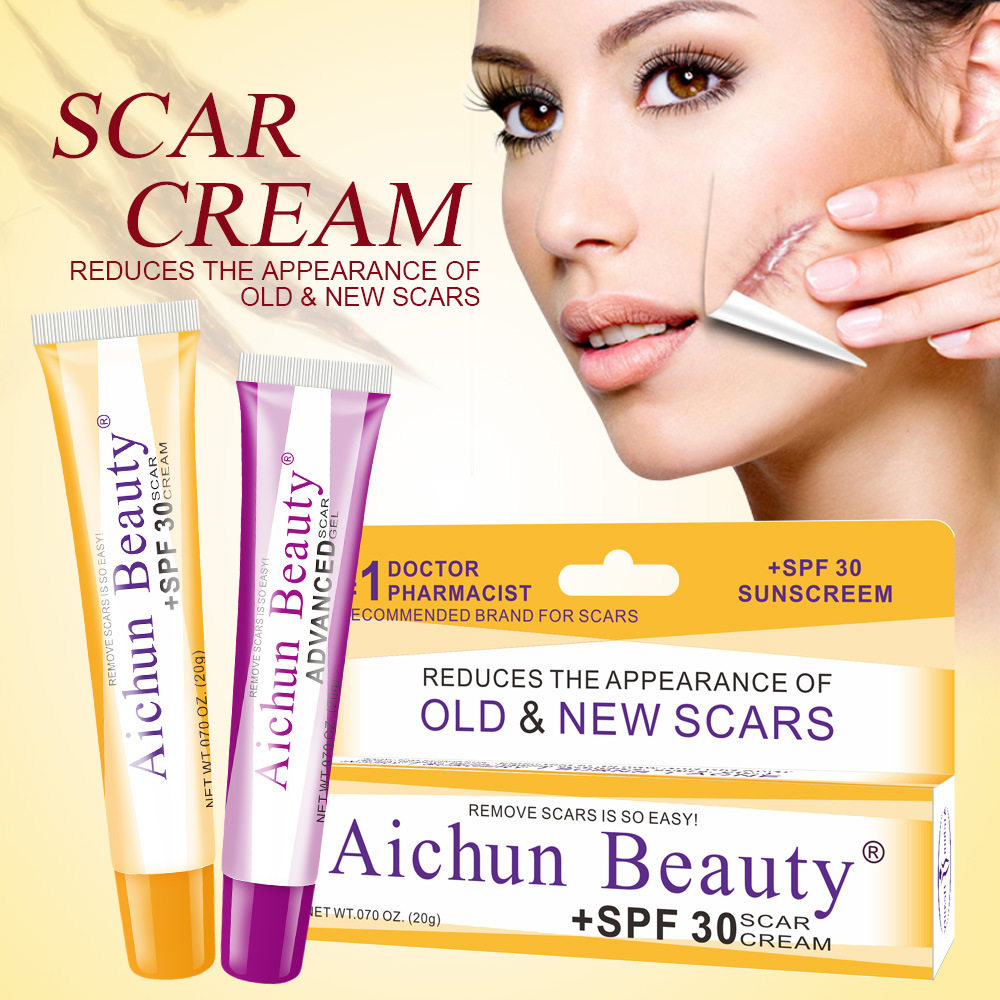 Laikou Scar Removal Cream Face Cream For Face Acne Scar Stretch Marks Acne Scars Scalding Skin Repair Desalination Gel Spf 30 Facial Self Tanners Bronzers Aliexpress
