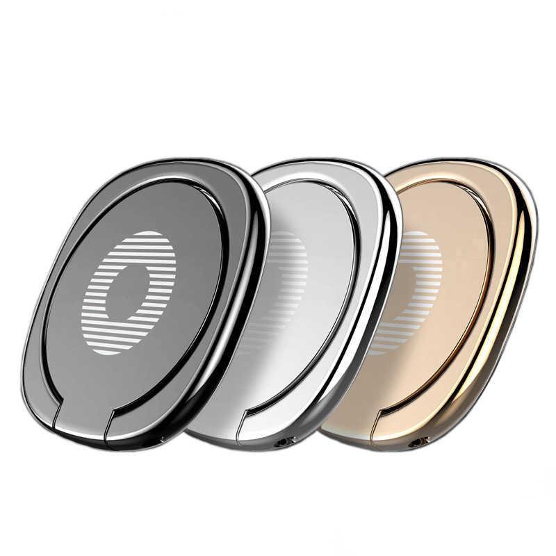 Cincin Jari Ponsel 360 Rotasi Berdiri untuk Tablet Ponsel Polos Karat Cincin Ponsel Soket Pemegang Bracket Zsmzzy
