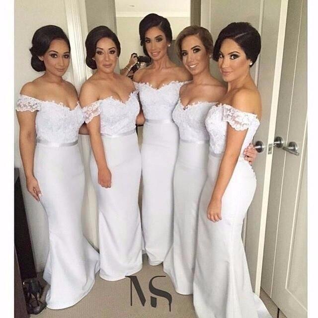 Beige Long Mermaid Bridesmaid Dress 2017 Sequin Vestido dama de ...