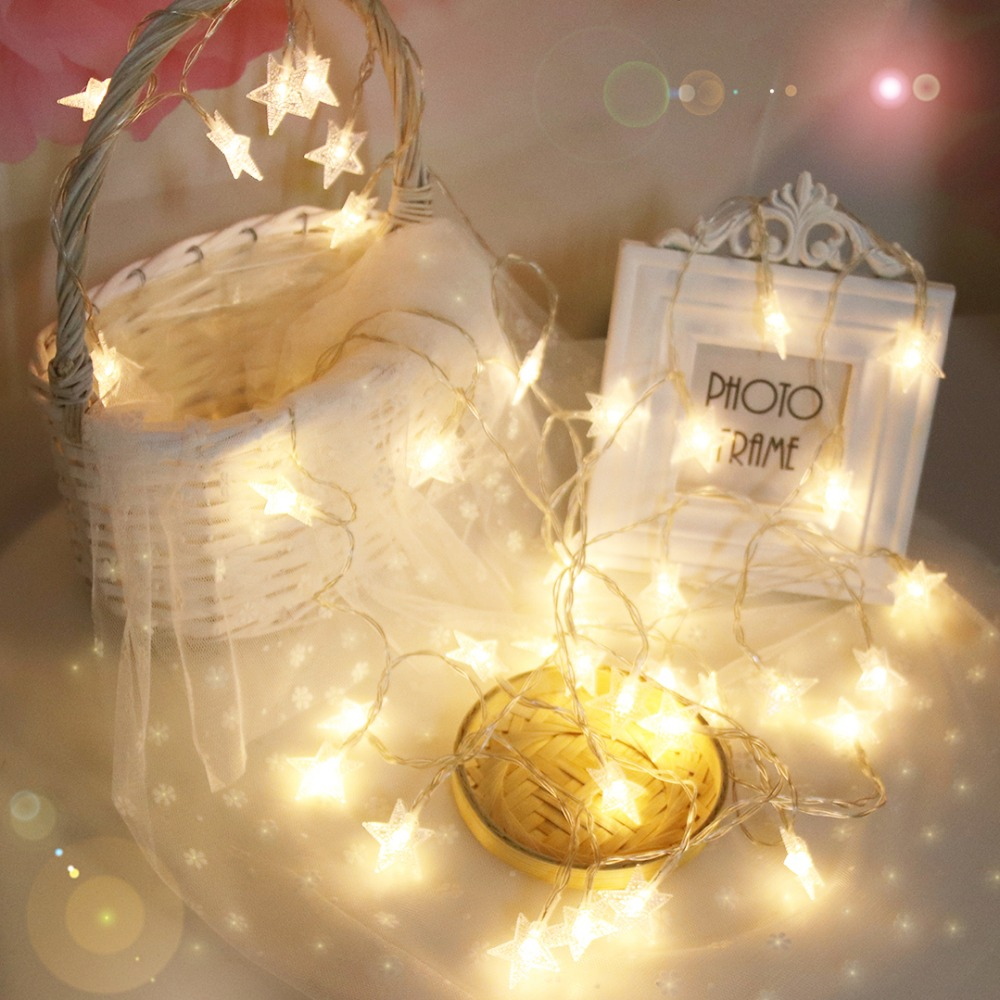6M LED String Light Night Stars Lantern Holiday Lights 40 LED'er Til - Ferie belysning - Foto 1