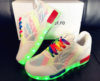 Qloblo Boys LED Light Shoes Child USB Charging Glowing Sneakers Kids Sport Shoes Boys Girls Shoes