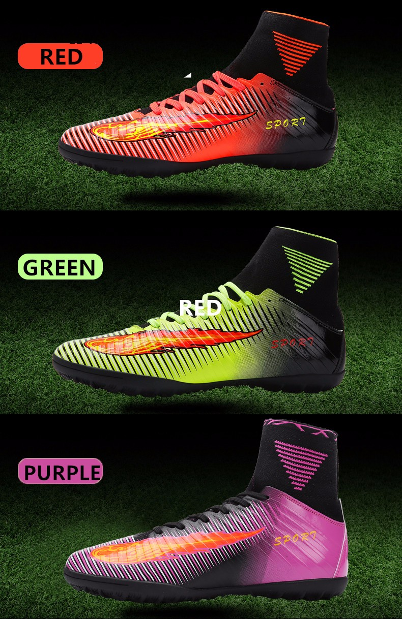 2017 High Quality Cheap Indoor Soccer Shoes Cleats High Ankle Kids Football Boots Superfly Original Boys Girls Sneakers2