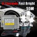 F5 55w Xenon Hid kit Car H4 Bi XENON h4 6000k HID Bi-xenon KIT hi/lo beam xenon fast start