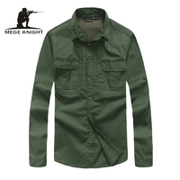 Tactical Buttoned Long Sleeve Shirts For Men Army Quick Dry Combat Shirt Military Clothing Outdoor Casual