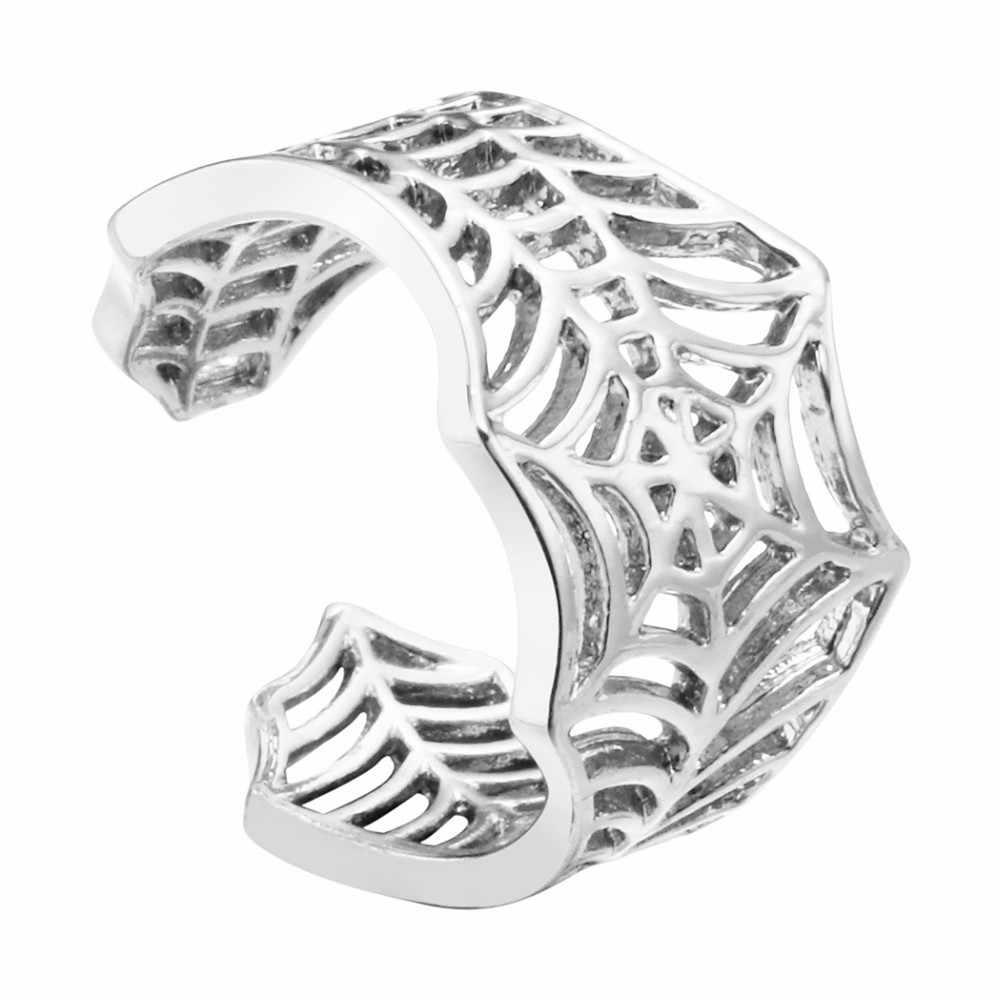 Kinitial Batman pierścionki Handmade pająk Web ogon zwierzęcy Puzzle biżuteria otwarty regulowany pierścień okrążenia hurtownia Bijoux