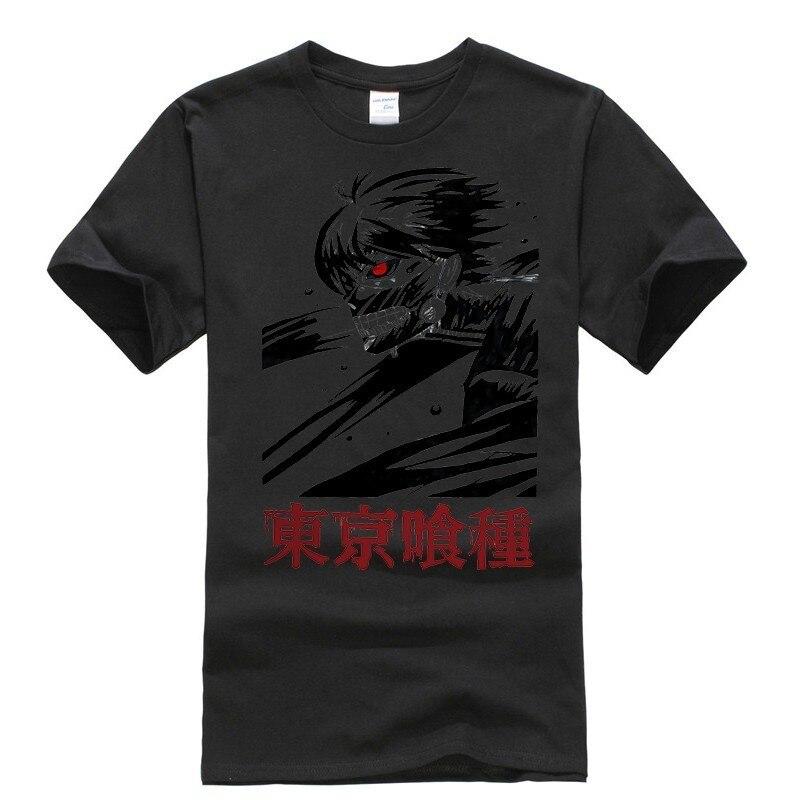 2019 harajuku round neck Tokyo Ghoul Men hip hop oggai Ken Ken Sasaki graphic shirt tshirts brands men shirts in T Shirts from Men 39 s Clothing