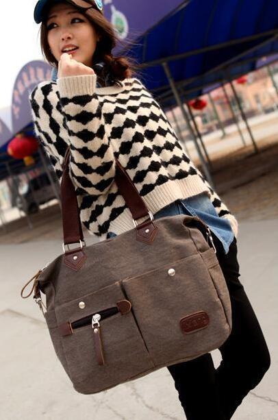 nuevos bolsos de moda de calidad de las mujeres bolsa de lona del hombro inform