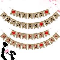 Поместив Счастливый День матери баннер Сельский День Матери вечерние украшения овсянка флаг пользу Love для мамы
