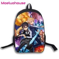 121322620ff9d Anime Men Women Unisex Sword Art Online 16 Laptop Travel Book Student School  Bag Backpack Knapsack