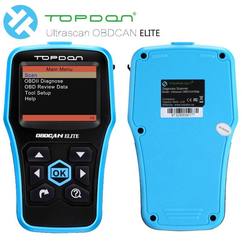 TOPDON exclusiva Ultrascan OBDCAN ELITE EOBD/OBD2 función completa ...