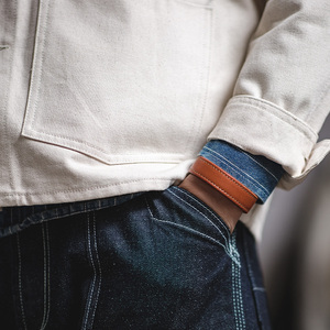 Image 4 - Maden מכתב עור קאף צמידי לגברים מתכוונן בעבודת יד צמיד חאקי צמיד חום הדפסת הודי Thunderbird תכשיטים