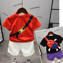 Summer Toddler Girl Clothes Little Bag Tops+ Shorts Suits Kids Boys Sets Costumes Children Outfits Clothes tracksuit 2019 стоимость
