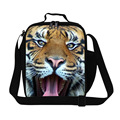 Cool tiger print lunch cooler bags for boys,adults mens work lunch container,fashion food bag for children small lunch bag kids