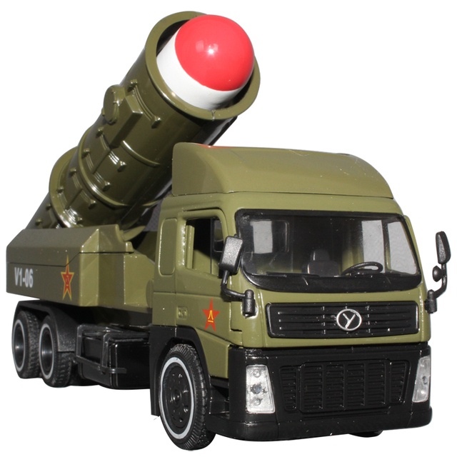 Hot sale 1pc 20cm Long-range missile launchers military toys missile alloy car model vehicles model car toys free shipping