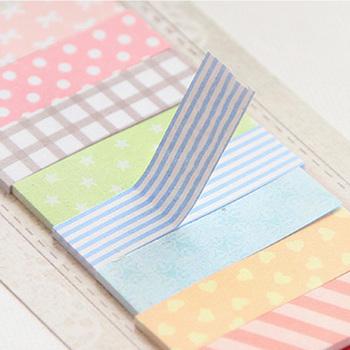 1 sztuk 160 stron śliczne Memo Pad Sticky Note rolka do czyszczenia ubrań biurowe Planner w kategorii notesy są 8 kolory dostępne szkolne materiały biurowe tanie i dobre opinie Podkładki memo BLINGIRD Samoprzylepne Dekoracji A1044