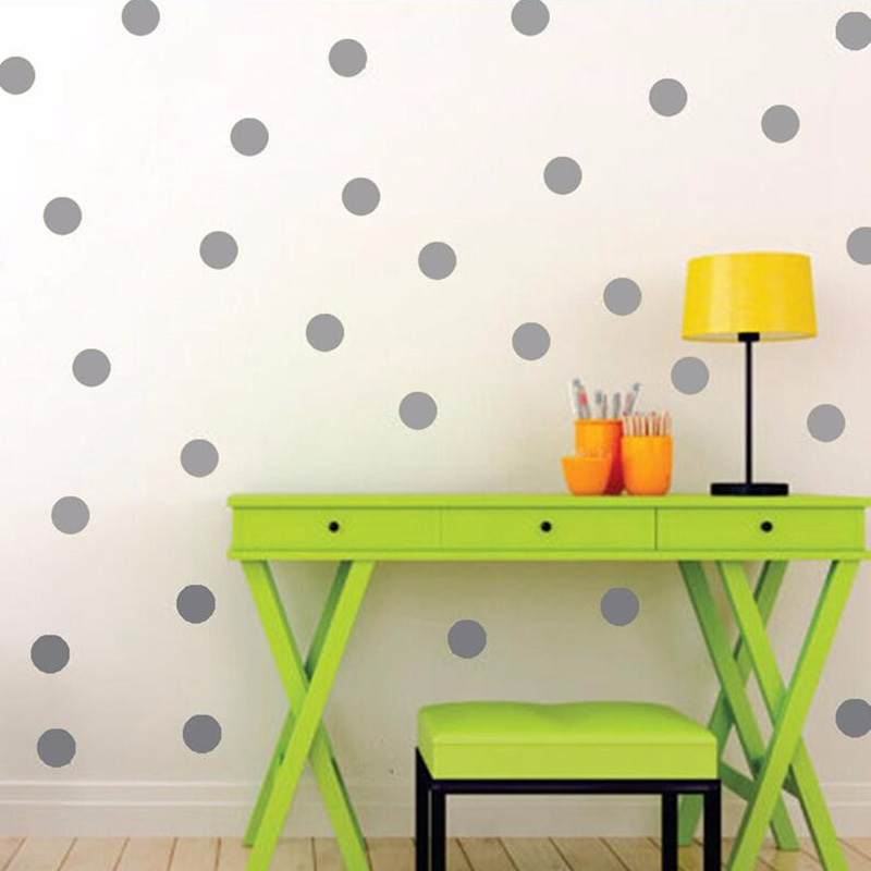 Aliexpress Buy Dot Wall Sticker Black And Gray Wall Decal Peel