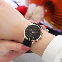 2018 Для женщин Мода Повседневное кожаным ремешком простой Стиль небольшой роскошный элегантный кварцевый Бизнес наручные часы