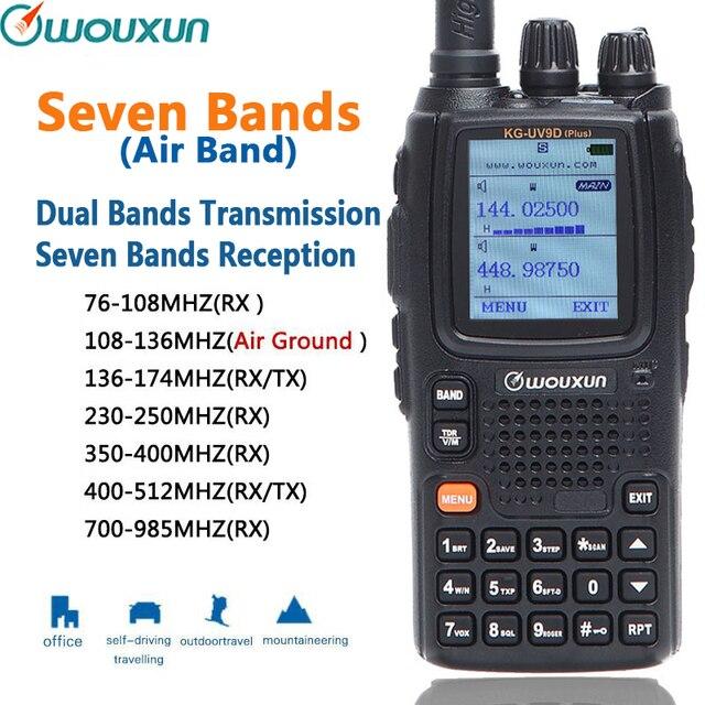 Wouxun KG UV9D plus sete faixas de receptor transmissão duplas faixa de ar peça clássica repetidor