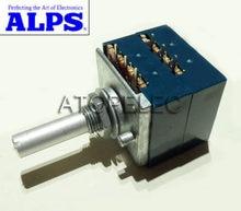Potenciômetro estéreo portátil alps rk27, 2-gang, dual 10k/20k/50k/eixo encostado 100k/250k/500k