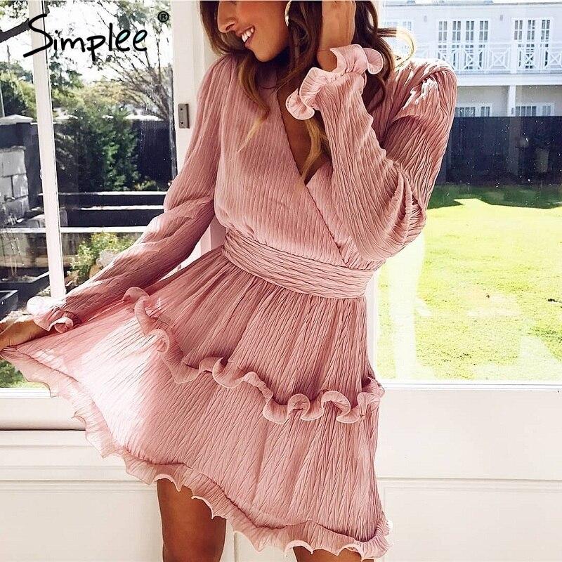 Simplee Chiffon Mini Dress S19DR0762