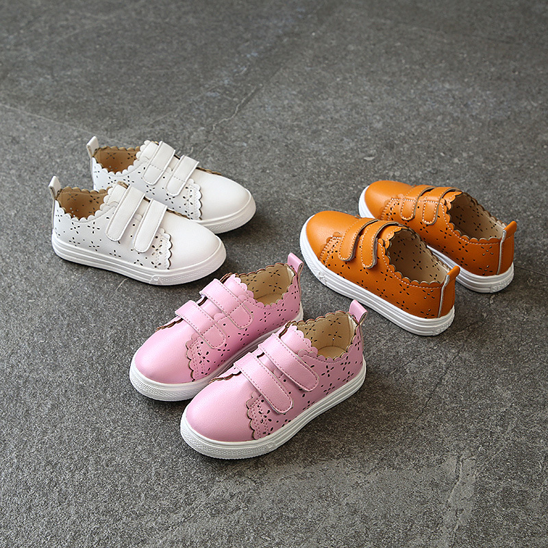 AFDSWG Spring and Autumn PU sport shoes for kids girls white school shoes Pink kids shoes running Yellow shoes boy running