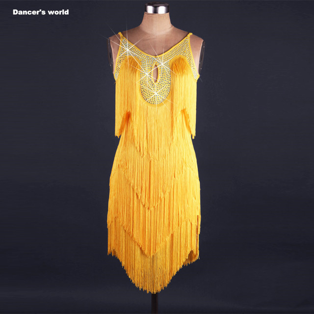 Sexy tassel dress latin dance clothes for women latin dance tassel sleeveless dress girls latin dance dress Cha-cha dance dress