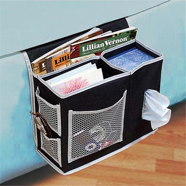 Bedside Sofa Storage Bag Hang Sundries Magazines Phone Tissue Holder Organizer For Book Tv Remote