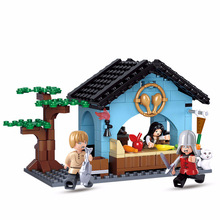 S Model Compatible with Lego B0612 206Pcs Food Shop Models Building Kits Blocks Toys Hobby Hobbies For Boys Girls