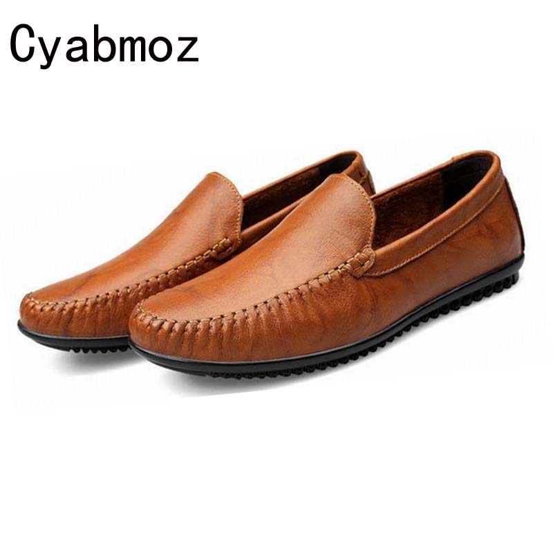2017 Flats New Arrival Genuine Leather Casual Shoes Men Slip-on loafers Drive Shoes Plus size Euro38-47 Handmade moccasins shoes handmade genuine leather men s flats casual haap sun brand men loafers comfortable soft driving shoes slip on leather moccasins
