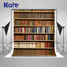 Kate 10x10ft Retro Bookcase Photography Backdrops Books Children Backdrop Library Portrait Photo Backgrounds