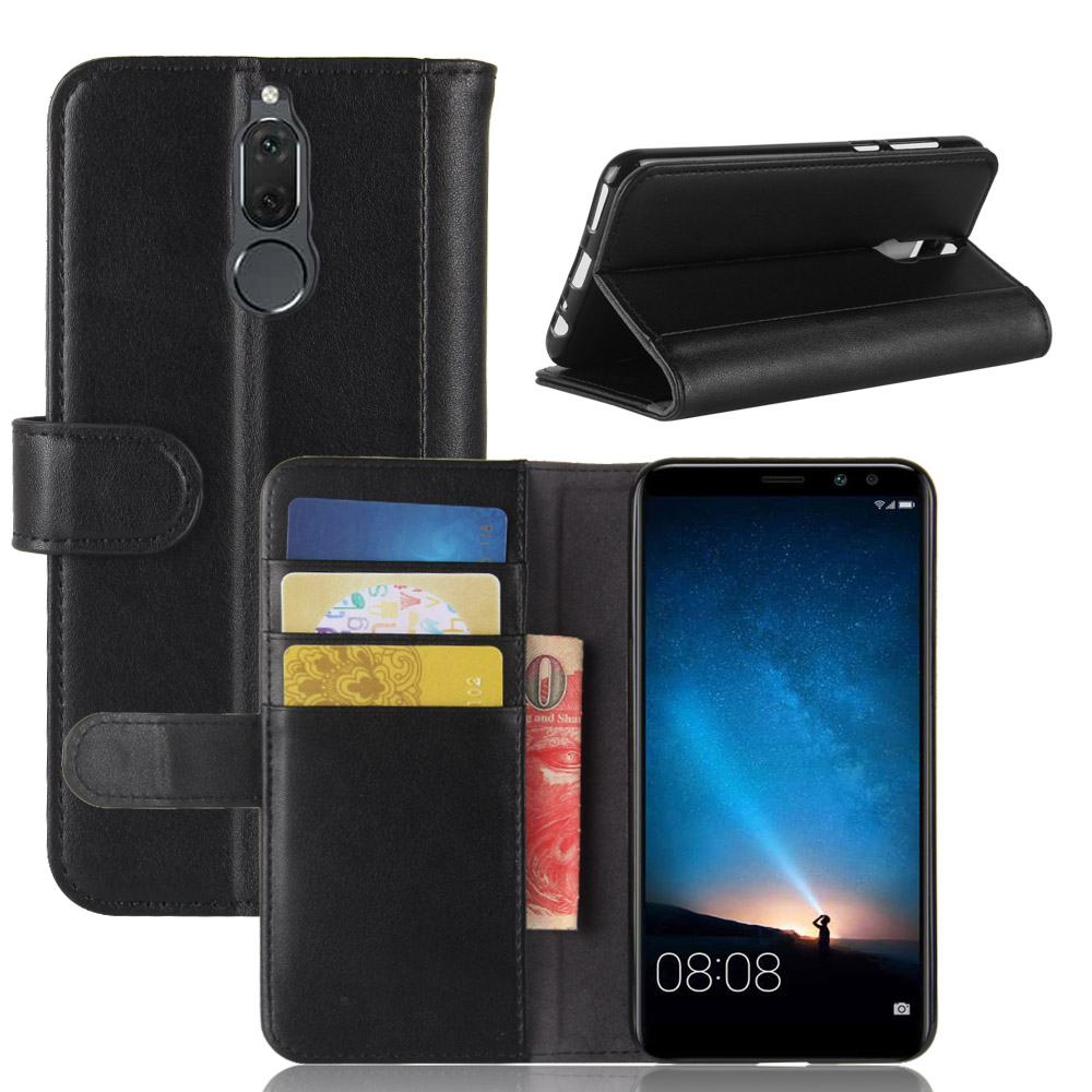 CYBORIS For Huawei Mate 10 lite / Huawei G10 Maimang 6 Genuine Real Cow Leather Case For Mate 10 lite/g10 Flip Cover back Cover
