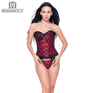 Image 2 - Корсет Miss Moly в стиле стимпанк, готическое бюстье, с открытыми косточками, кружевное платье, размер 6XL