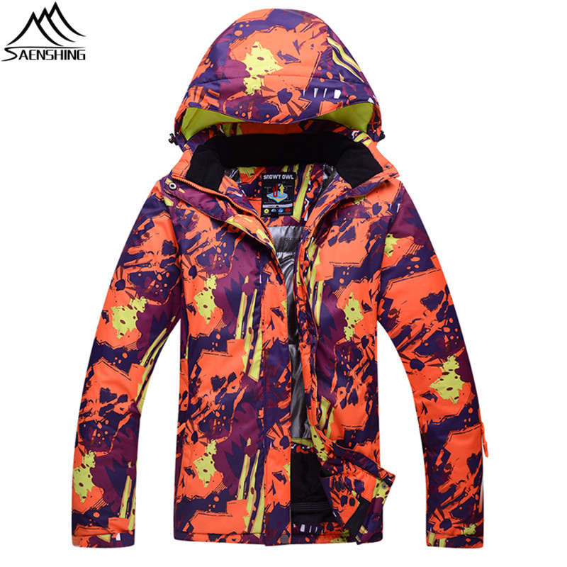 Saenshing Waterproof 10K ski jacket men women ski clothing warm breathable snowboard Coat couples winter snow skiing jackets hot sale women ladies snowboard jacket waterproof breathable ski jacket female winter snow coat sport motorcycle anorak clothes