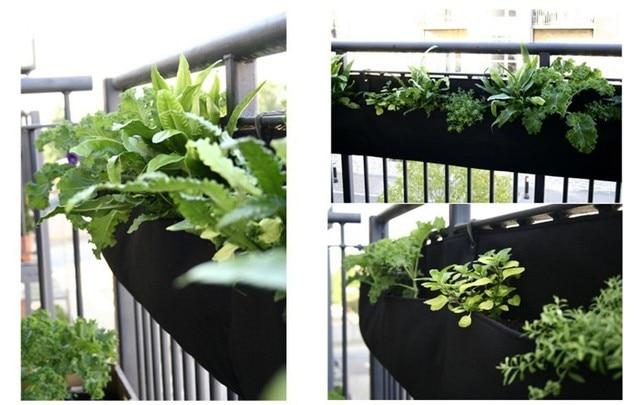 Novelty 4 Pockets Vertical Garden Planter Wall Mounted Felt Hanging Flower  Pots Indoor 1 Or
