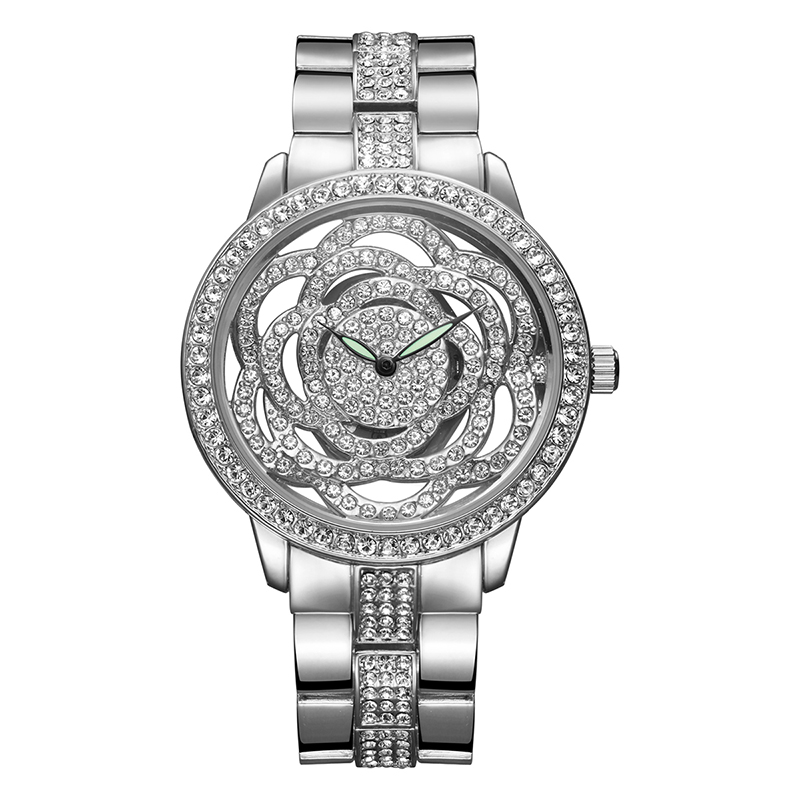 WEIQIN Flower Women Watches Luxury High Quality Water Resistant Montre Femme Stainless Steel 2017 Dress Woman Wrist Watches Gift weiqin black clock women watches luxury brand high quality montre femme stainless steel 2017 dress woman wrist quartz watches