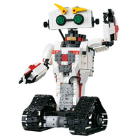 Smart Robots 2 in1 Transformation RC Robot Model Creative Technic Serie Assemble Fighting Robot Electric DIY Toys Kids Gift