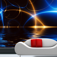 Mural Fashion large mural illusiveness background 3D wallpaper sofa tv 3D wallpaper Customized Dream 3D