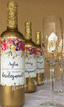 Custom Wine Labels, Bridesmaid Proposal Gift - Bridesmaid Wine Bottle Label, Asking Bridesmaid - Will You Be My Bridesmaid Gift фото